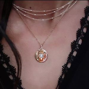 Jewelry - Simulated pearl star coin layered necklace